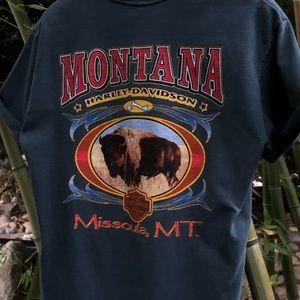 Harley Davidson Missoula Montana tee shirt small